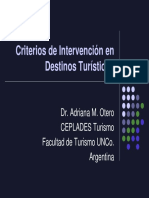 Criterios de Intervencin en Destinos Tursticos