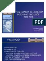 Implementacion de La Politica de Equidad e Inclusion 2015 2018