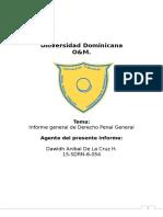 Conceptos básicos de Derecho Penal General.