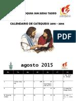 Calendario Catequesis Ciclo 2015 2016