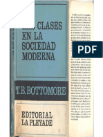 Bottomore, Tom - Las Clases en La Sociedad Moderna, Ed. La Pléyade, 1968