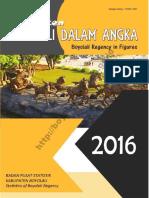Kabupaten Boyolali Dalam Angka 2016