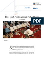 How Saudi Arabia Exports Radical Islam