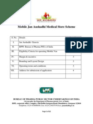 Mobile Jan Aushadhi Store | Point Of Sale | Pharmaceutical Drug