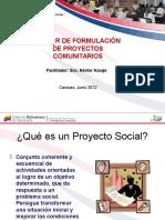 Formulación de Proyectos Sociales - Fegs