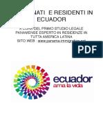 Residenza in Ecuador - Come Prendere la Residenza in ECUADOR