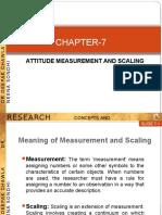 Attitude Measurement & Scaling