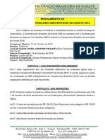 Regulamento Do Campeonato Brasileiro Universitário 2016
