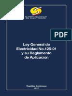 1 - LEY GENERAL DE ELECTRICIDAD 125-01 Y SU REGLAMENTO unlocked.pdf
