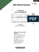 Onkyo Ht-r680 Receiver