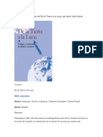 Resumen de de La Tierra a La Luna, Del Autor Julio Verne