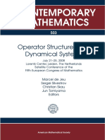 (Contemporary Mathematics 503) Marcel de Jeu, Sergei Silvestrov, Christian Skau, Jun Tomiyama (Ed.)-Operator Structures and Dynamical Systems_ July 21-25, 2008 Lorentz Center, Leiden, The Netherlands