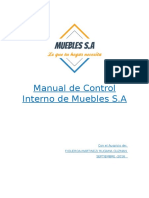 Manual de Control Interno Muebles s.A