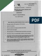 Chemistry Past Paper Questions 2015 Paper 2 Unit 2