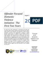 Offender Focused DV Initiative Report Aug 2014
