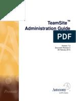 TeamSite 7.3 Admin Rev2 En