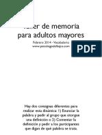 Ejercicio de Memoria Para El Adulto Mayor