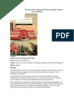 Resumen de El Amor en Los Tiempos Del Cólera, Del Autor Gabriel García Márquez