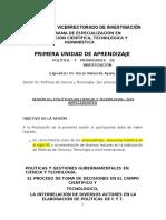 Sesion 01 - Politica Cientifica - Oscar Valverde