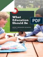 Kent Denver Viewbook 2016