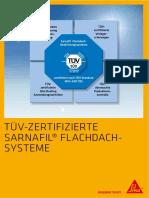 TÜV-zertifizierte Sarnafil Flachdachsysteme