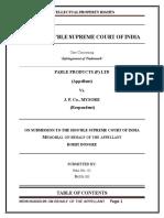 PARLE PRODUCTS (P) LTD (Appellant) Vs. J. P. Co., MYSORE  (Respondent).docx