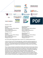 Funding Letter to Congress for Critical Educator Programs