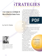 Four Steps to a Strategic and More Effective Sales Force