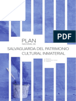 Plan Nacional de Salvaguarda Del Patrimonio Cultural Inmaterial