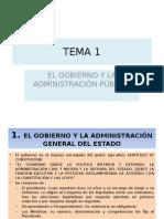 Tema 1 El Gobierno y La Administración Pública