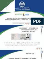 Instructivo Procedimiento Tarjeta Profesional Primera Vez CONTADOR PUBLICO COLOMBIA