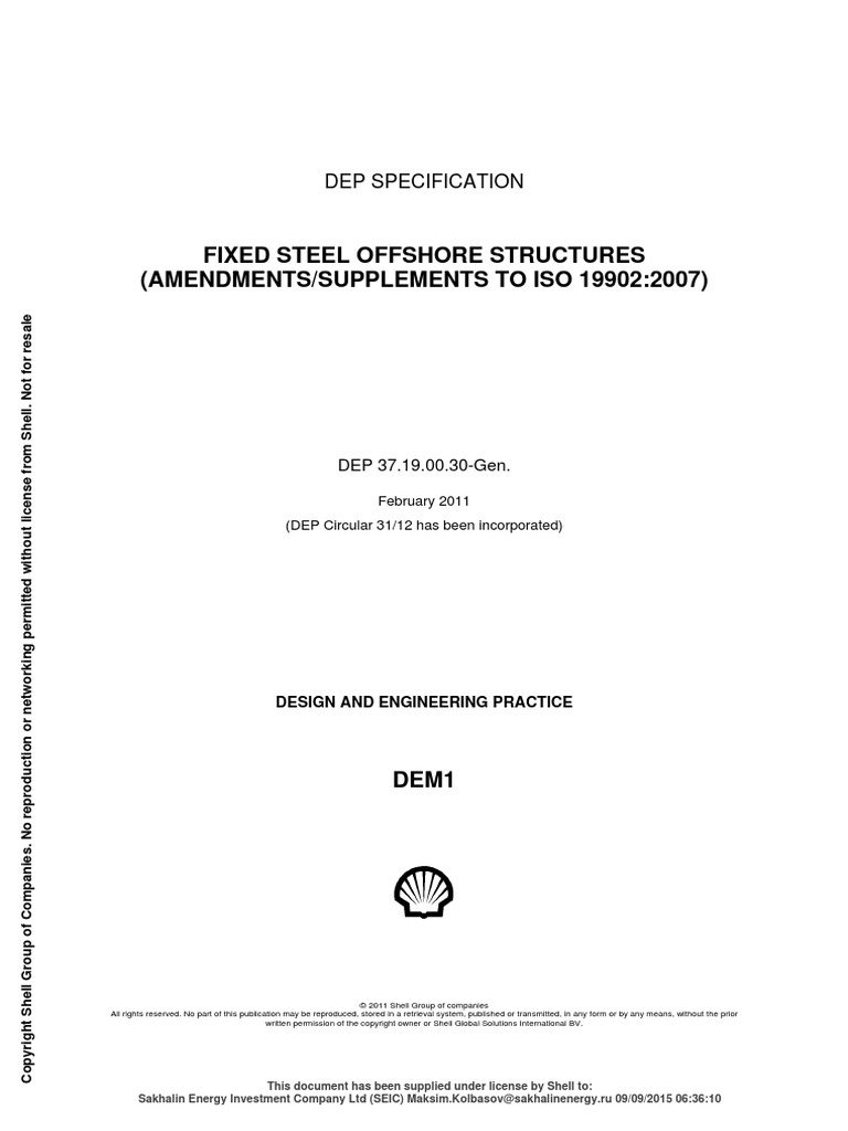 Dep Fixed Steel Offshore Structures Deep Foundation Fatigue Material