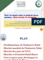 Présentation ICDT PART DU MAROC DANS LE MARCHE HALAL MONDIAL ETAT ACTUEL ET POTENTIEL