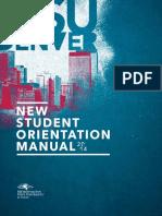 New Student Orientation Manual 2014