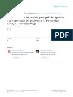 Fernandez Liria Et Al (2010) Effectiveness of a Structured Training Program in Psychotherapeutic Skills Copia