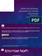 Fhec Open Educational Resources in Higher Education