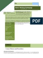 Syllabus (ENGL 5361) Summer 2010 (Basic Writing Pedagogy)
