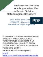 Transformaciones Territoriales Asociadas a La Globalización