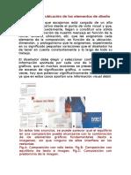 Composición y ubicación de los elementos de diseño
