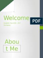welcome-precalc