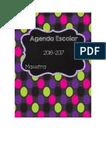 Agenda Ciclo Escolar 2016 - 2017
