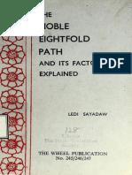 518. The Noble Eightfold Path and Its Factor Explained, Magganga Dipani - Ledi Sayadaw