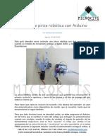 Control Ar Pinza Robotic a Con Arduino