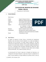 Manual de Calificación de Registro de Opiniones