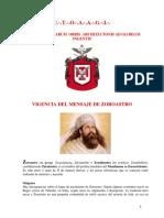 Vigencia del Mensaje de Zoroastro - Daniel Tenorio
