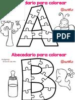 Abecedario Para Colorear PDF
