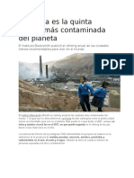 La Oroya Una de Las Ciudades Más Contaminadas Del Planeta