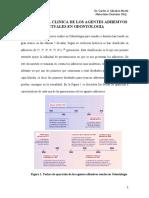 Agentes Adhesivos Actuales en Odontologia