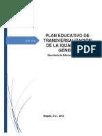 Plan Educativo de Transversalización de La Igualdad de Género 25 Mayo Tg