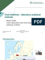Laboratory Analytical Methods Food Additives MK 59310